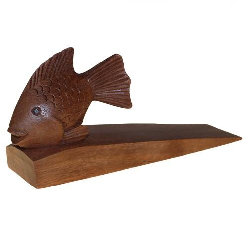 Wooden door stop fish home decor that 39 ll do nicely for Fish door stop